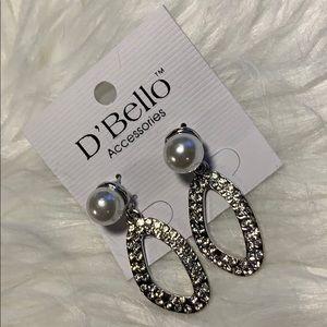 D'Bello Pearl w/Jewels Earrings